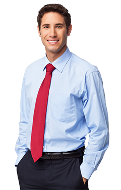 Male Professional Standing With Hands In Pockets - Isolated